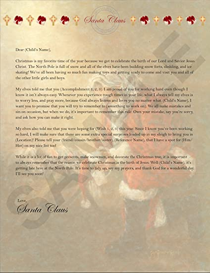 Amazon personalized christmas letter from santa toys games personalized christmas letter from santa spiritdancerdesigns Images