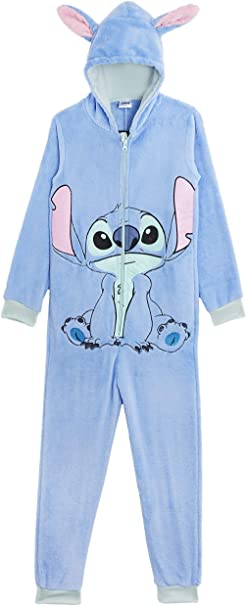 Disney Stitch Pijama Entero para Niñas De Una Pieza Super Suaves ...