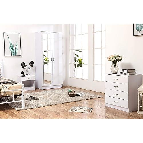 White High Gloss Bedroom Furniture: Amazon.co.uk