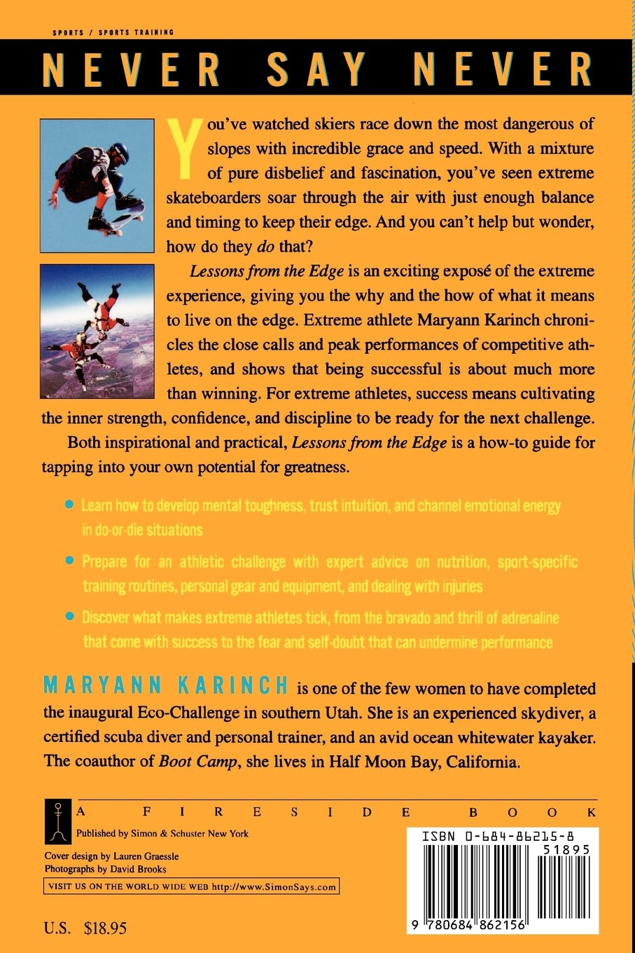 8283b5aca96 Lessons from the Edge  Extreme Athletes Show You How to Take on High Risk  and Succeed  Amazon.it  Maryann Karinch