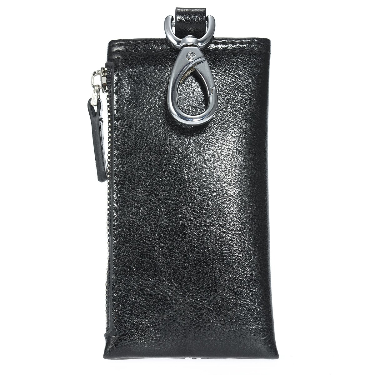 00d4d39fe57d5 Amazon.com  ManChDa Leather Key Wallets Unisex Keychain Key Holder Ring 6  Hooks Snap Closure  Clothing