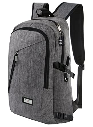 GAOAG Laptop Backpack With USB Charging Port Fits 16 Inch Anti Theft Waterproof Business