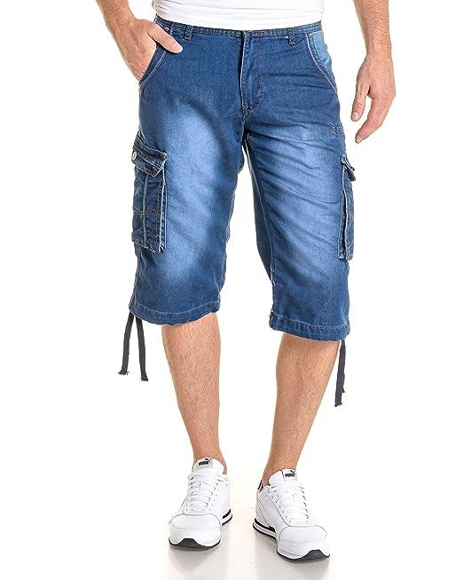 BLZ Jeans – Pantalón pirata para hombre azul cargo azul azul ...