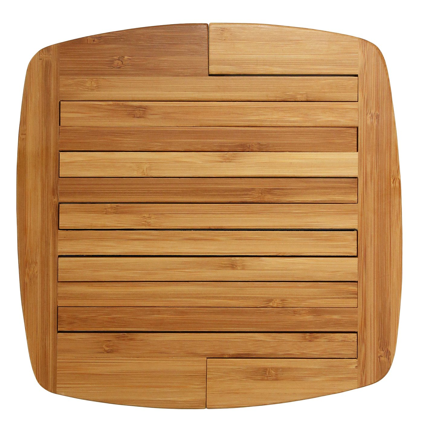 Totally Bamboo Expandable Trivet; Heat Resistant, Durable and Beautiful Round Wood Trivet Helps Protect Tabletops & Counters in Style, 11 3/4'' by 8 3/4'' open, 8 3/4'' by 8 3/4'' closed; Designed in USA