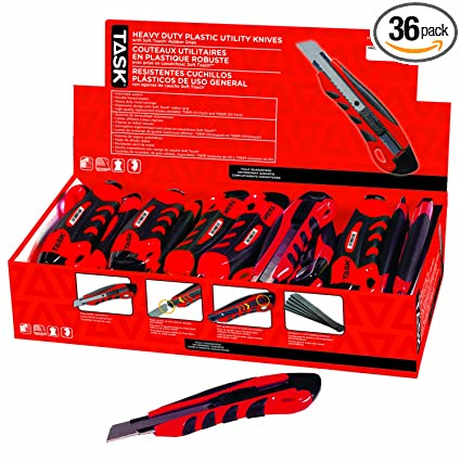 Task Tools T00970 Heavy-Duty Plastic Utility Knives with ...