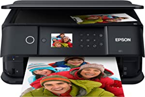 Epson 5-Color Expression Premium XP Series Small-in-One Wireless Inkjet Printer - Print Scan Copy - 5760 x 1440 dpi, 15.8 ppm, Borderless Photo Duplex Printing, Voice-Activated, Printable CD/DVD