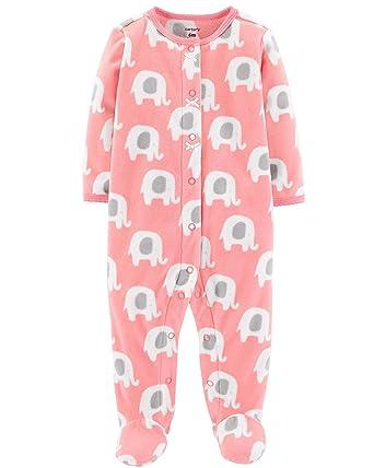 732d555ed4b5 Amazon.com  Carter s Baby Girls  Elephant Snap-Up Fleece Sleep ...