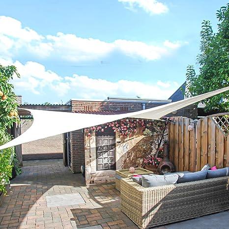 GE-UZ Toldo Vela de Sombra Rectangular 3x4 Metros | Toldos Impermeables Exterior | Toldo Terrazas | Todo Incluido | Toldos para jardín, Piscina y ...