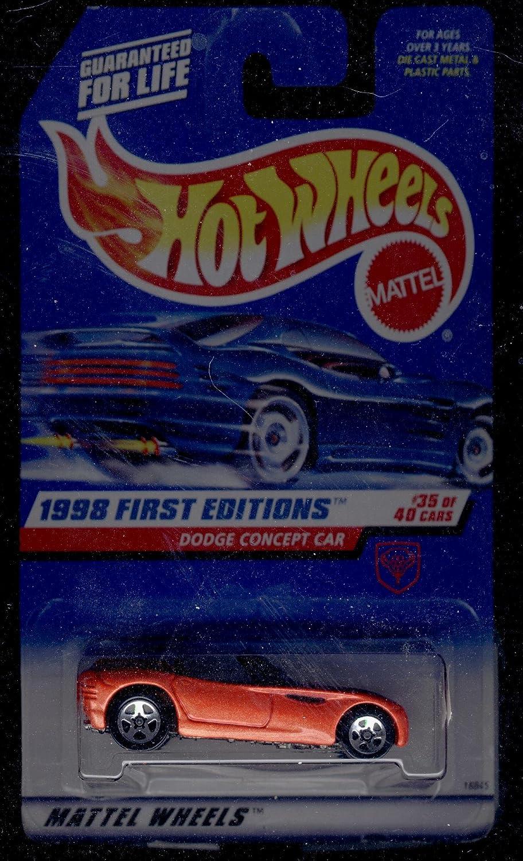 Mattel Hot Wheels 1998 First Editions 1:64 Scale Orange Dodge Concept Car Die Cast Car #035 by Hot Wheels 18845