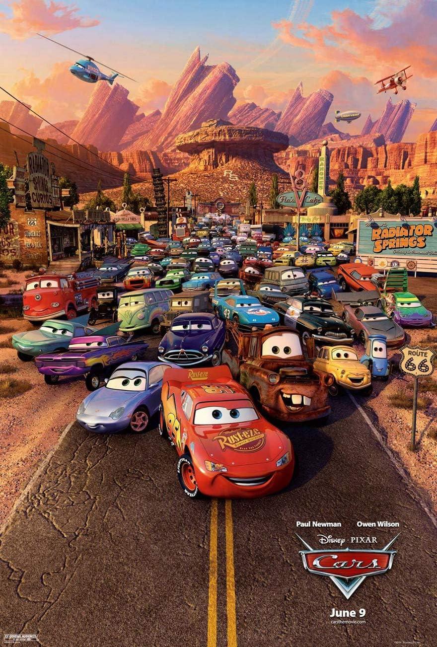 Amazon Com Cars Movie Poster 2 Sided Original Rare Final 27x40