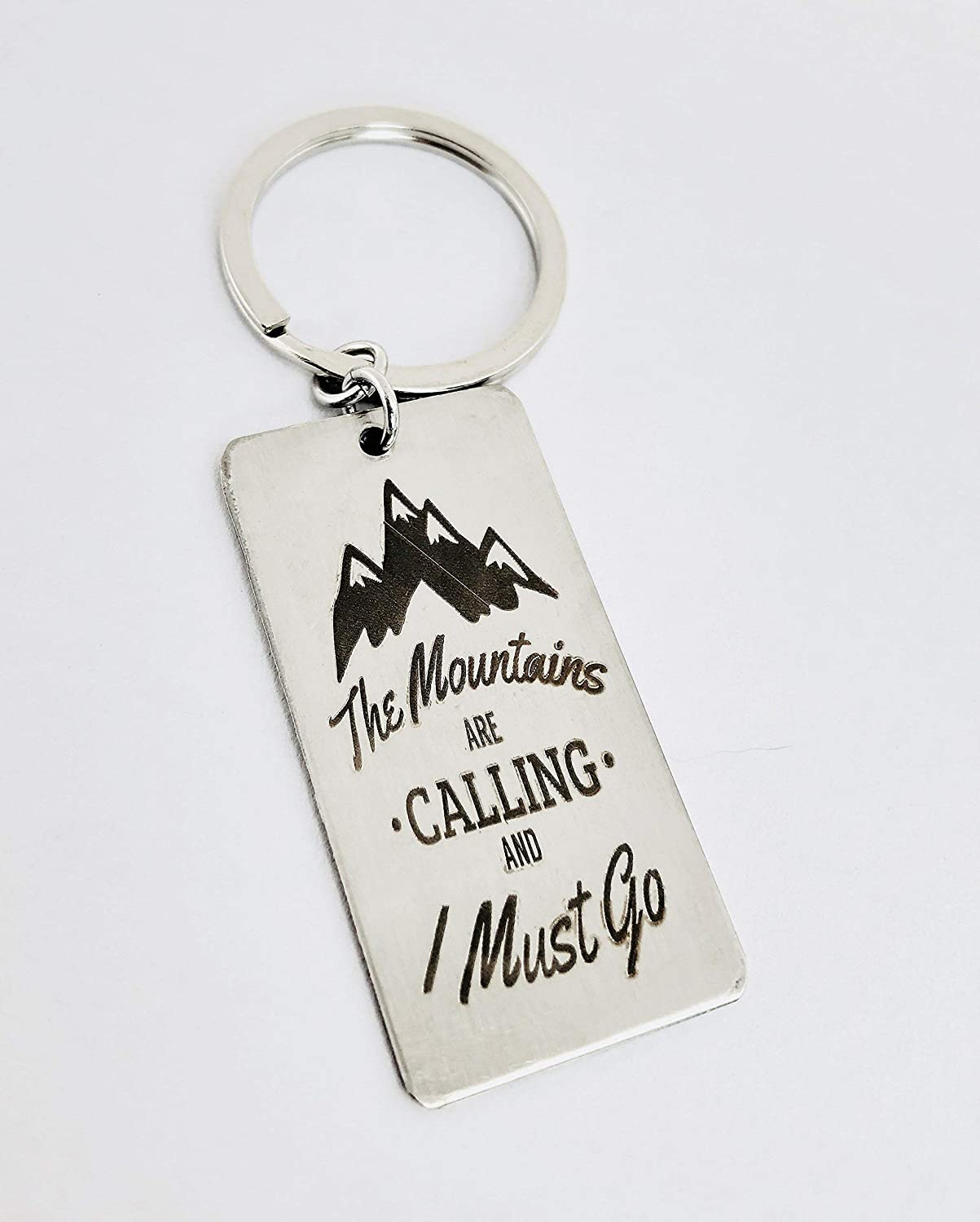 Colorado Keychain Adventure Hiking Gift Mountain Range Stamped Penny Keychain The Mountains Are Calling Hiker Keychain Mountain Gift