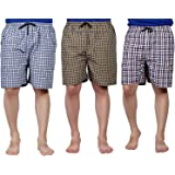 SSB Pure Cotton Multicolor Casual Solid Boxers for Men's Pack of 3