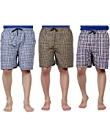 ANP Pure Cotton Multicolor Casual Solid Boxers For Men's Pack of 3