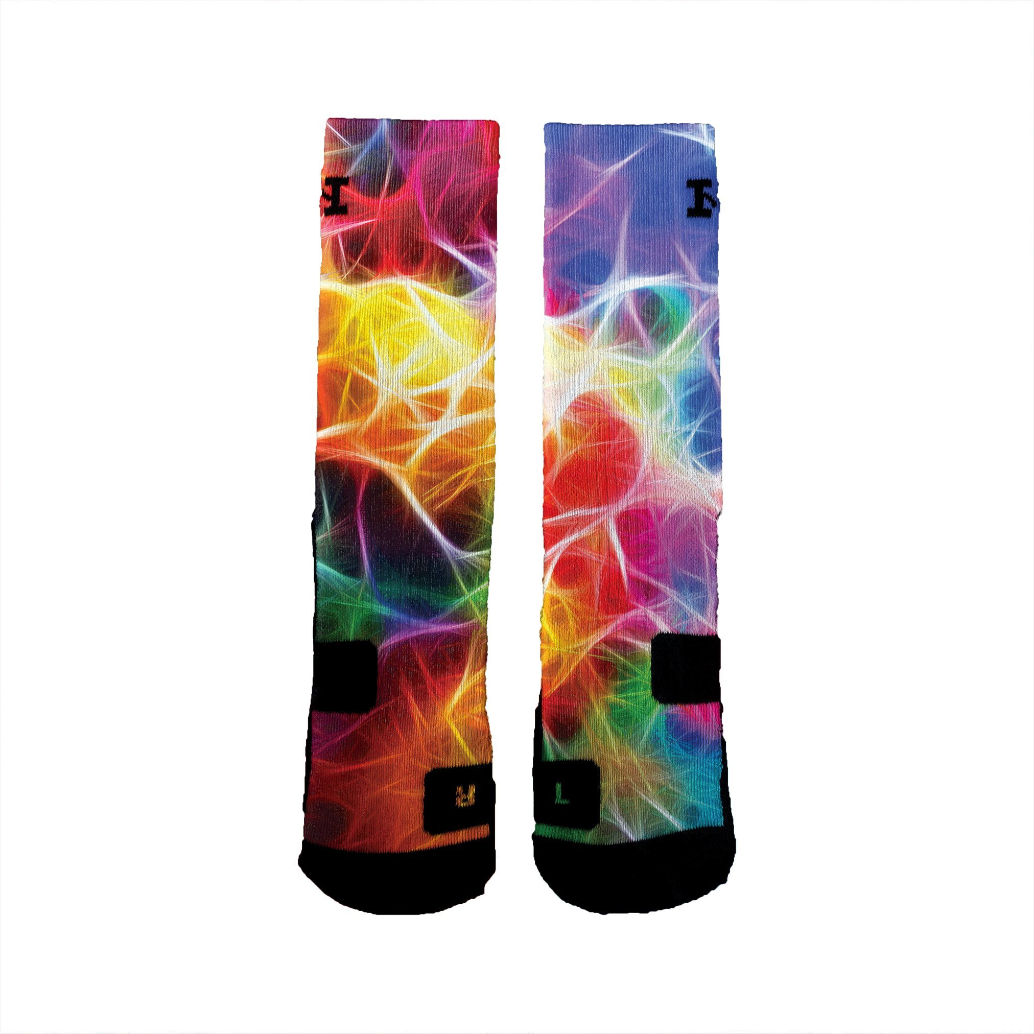 HoopSwagg Brand Athletic Socks Neuron Magic Medium