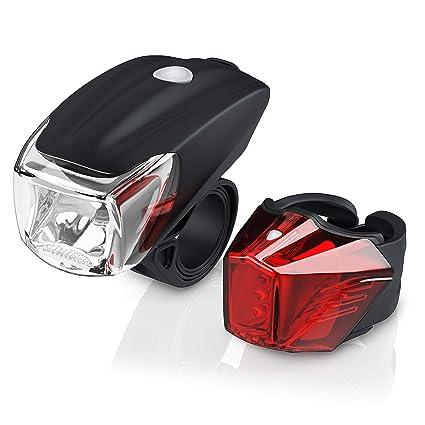 Led Akku Fahrradbeleuchtung Set Stvzo Fahrradlampen Set Vorderlicht Und Rücklicht Zugelassen Nach Stvzo Schnellbefestigung