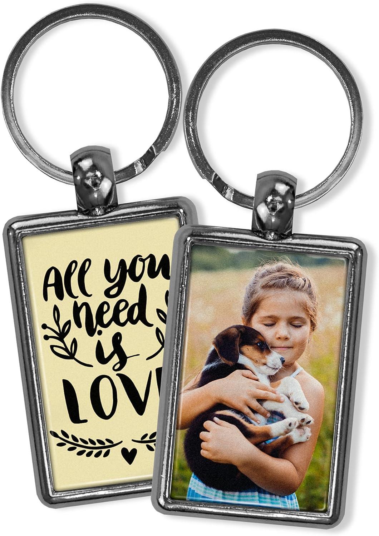 Llavero Amor Personalizado con Foto/Texto/Imagen/Nombre. Llaveros Personalizados 2 Caras. Regalo Original. Varias Cantidades Disponibles. Rectangular 2 Caras