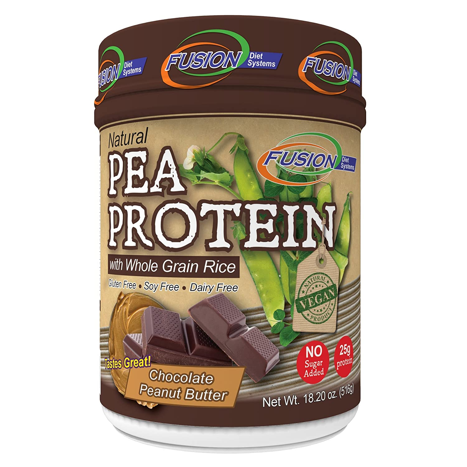 Amazon.com: Fusion Plant Based Vegan Protein – Double Chocolate Fudge, Best Pure Raw Complete Sports Performance Meal Replacement Shake, Gluten-Free, ...
