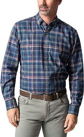 Walbusch - Camisa de algodón y seda a rayas para hombre Con ventanas. 42: Amazon.es: Ropa y accesorios