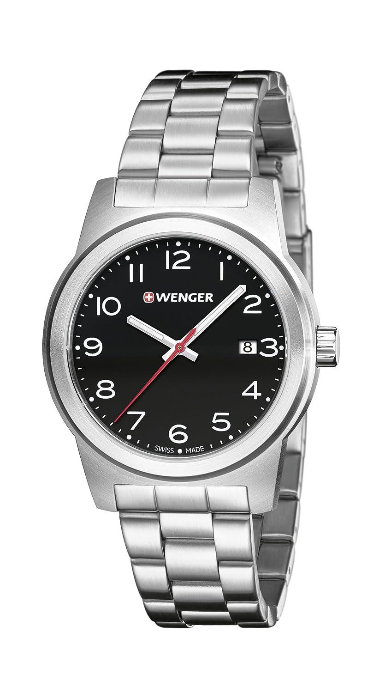 WENGER Herren-Armbanduhr SPORT DYNAMIC FIELD COLOR Analog Quarz Edelstahl 01.0441.145