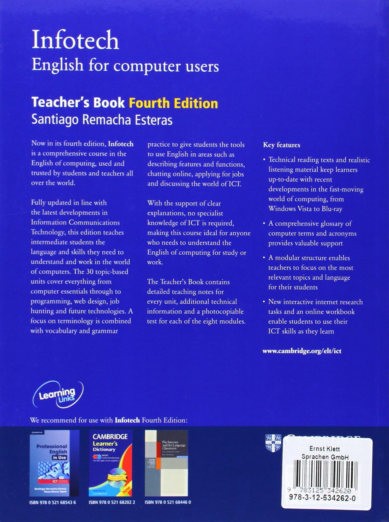 Infotech. English for computer users. Teacher's Book: Amazon.co.uk:  Unknown.: 9783125342620: Books