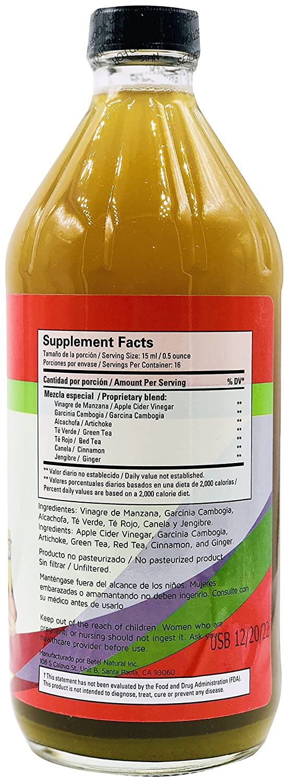 Amazon Com Adelgazamax Vinagre De Manzana Apple Cider Vinegar