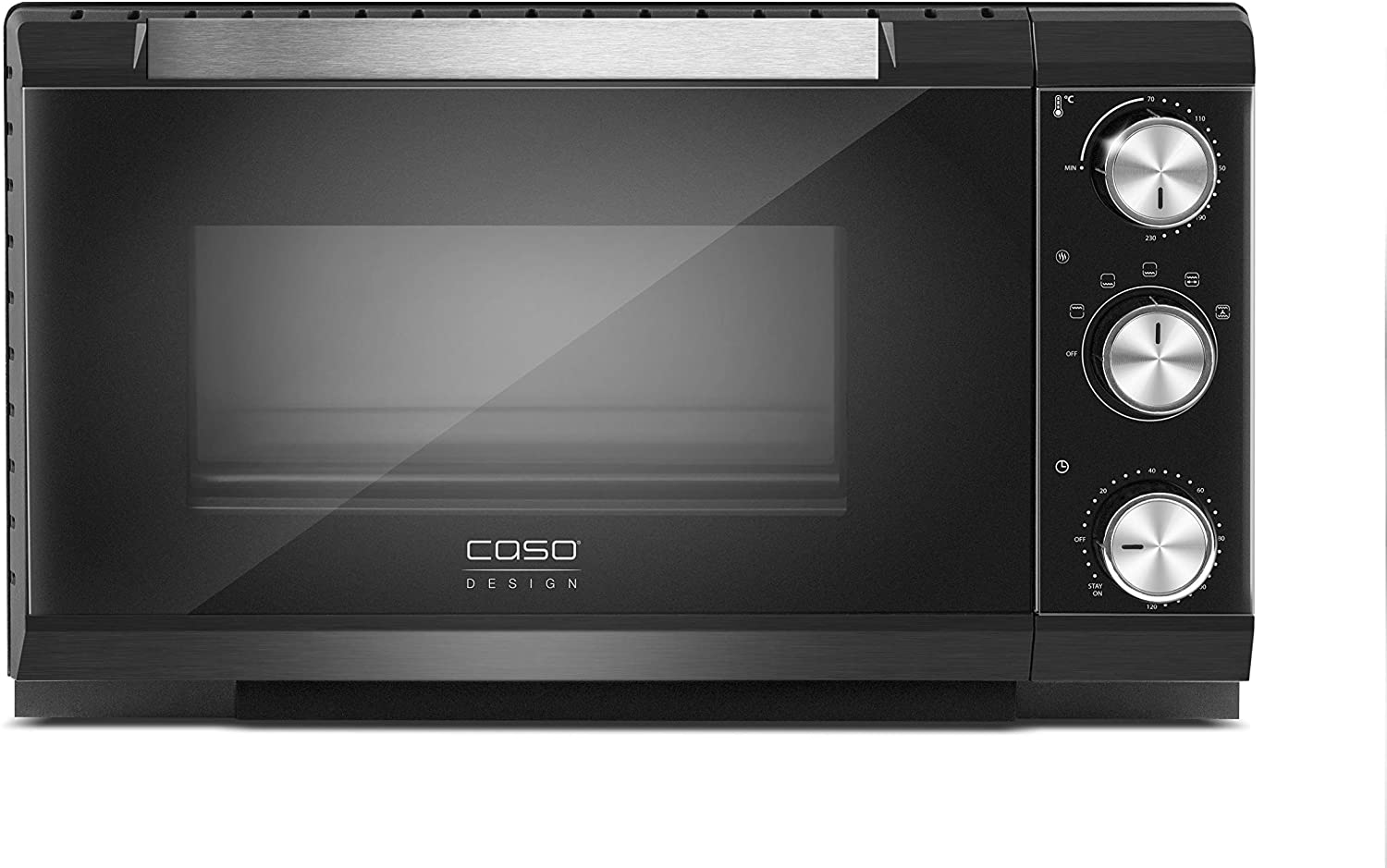 120 min Caso TO20 toaster oven 20 L Black Grill 1650 W TO20 20 L Black Rotary 70-230 /°C Mechanical