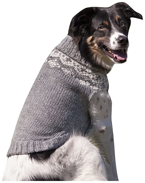 Amazon.com : Fashion Pet Soft Fair Isle Dog Sweater, Large, Grey ...