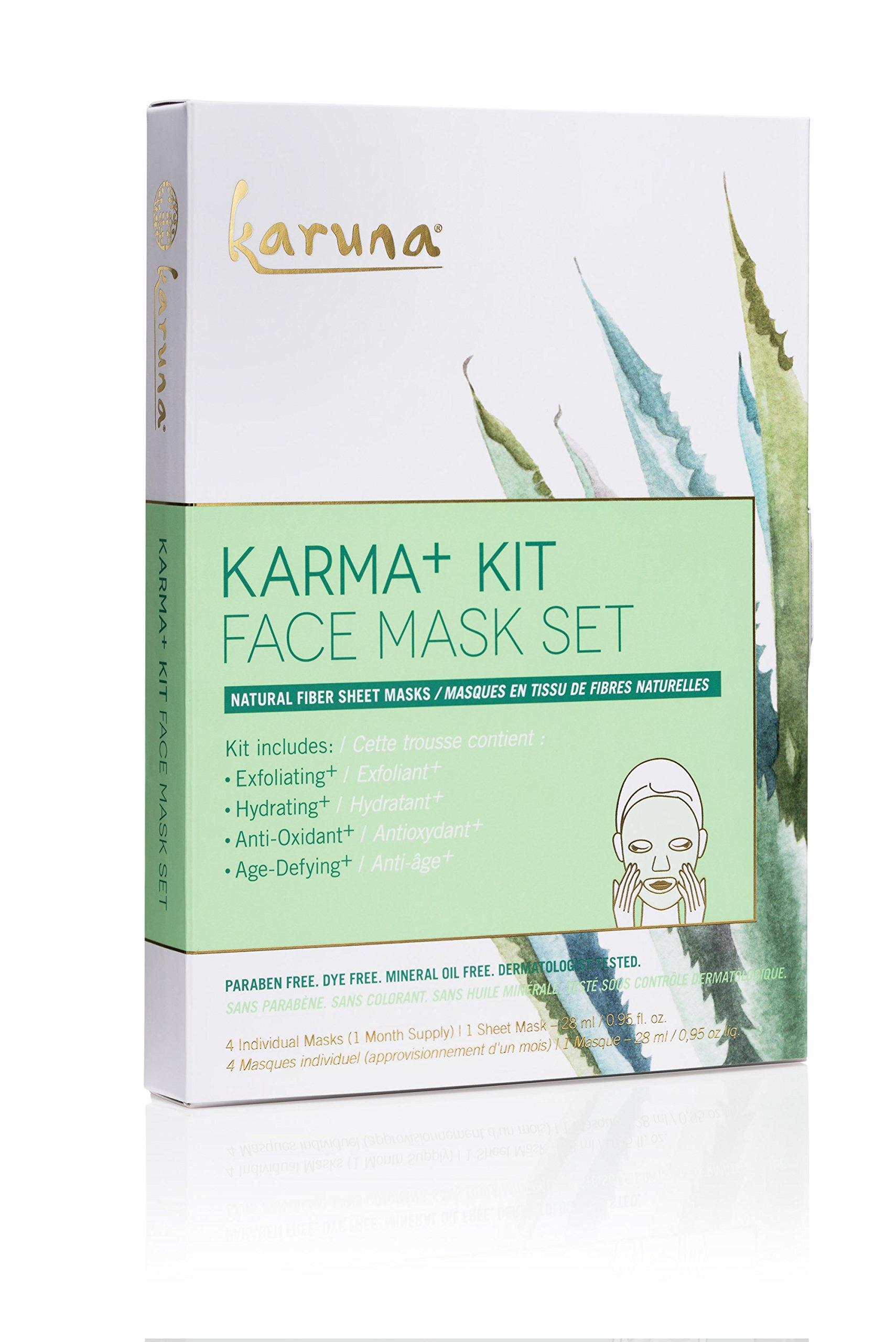 Karuna Karma Kit + Face Mask Set, Pack of 4, 3.8 fl. oz.