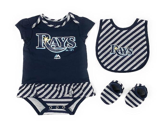 Amazon.com: Outerstuff Tampa Bay Rays Niñas Ropa De Bebé, 3 ...