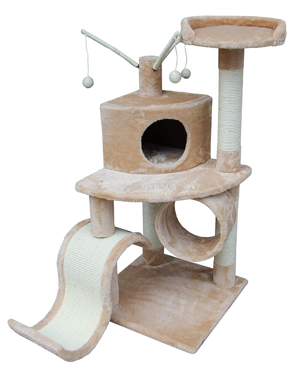 Kitty Mansions Memphis Cat Tree, Beige