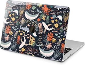 "Cavka Hard Shell Case for Apple MacBook Pro 13"" 2019 15"" 2018 Air 13"" 2020 Retina 2015 Mac 11"" Mac 12"" Cute Shark Design Kawaii Especial Cover Fish Plastic Print Sea Laptop Protective Whale Ocean"