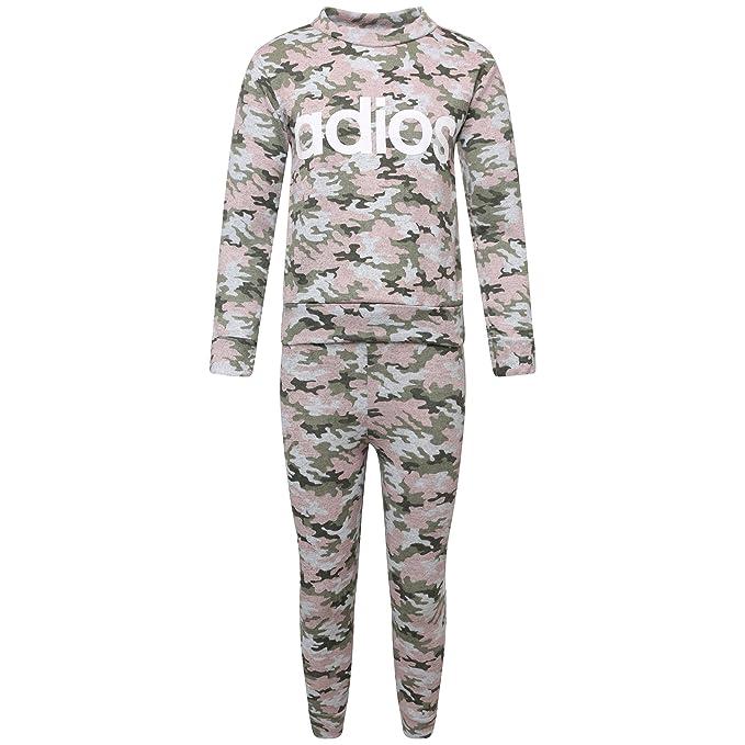 Womens Ladies Army Camouflage Print Top Joggers Loungewear Tracksuit Set UK 8-14