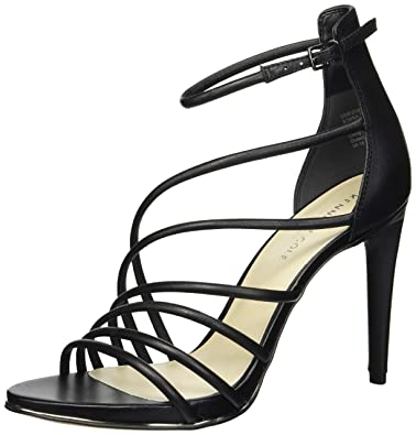 4e2a4cd64ca2 Kenneth Cole New York Barletta Strappy Leather Stiletto Heel Black