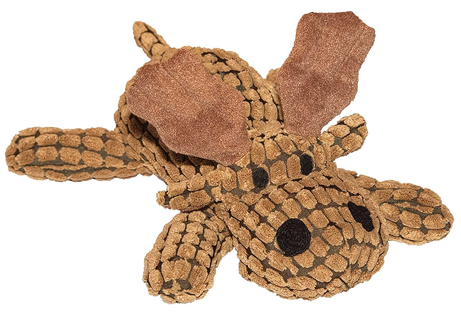 PATCHWORK Pet Waffle Wags Moose 14-Inch Squeak Toy for Dogs