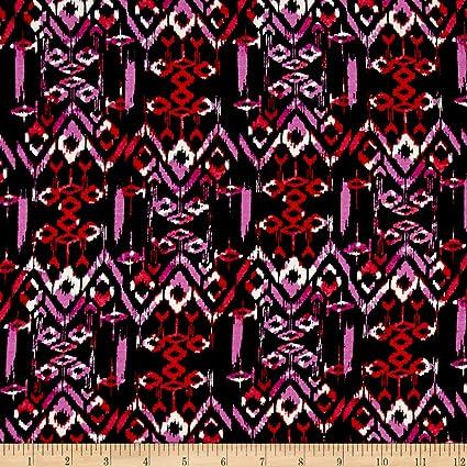 9a7dbc8ddfb Amazon.com: Neiman Brothers Diamond Splash Jersey Knit Black/Orchid ...