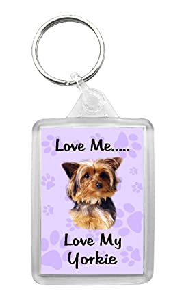 Yorkshire Terrier Yorkie Keyring Gift//Present Dog