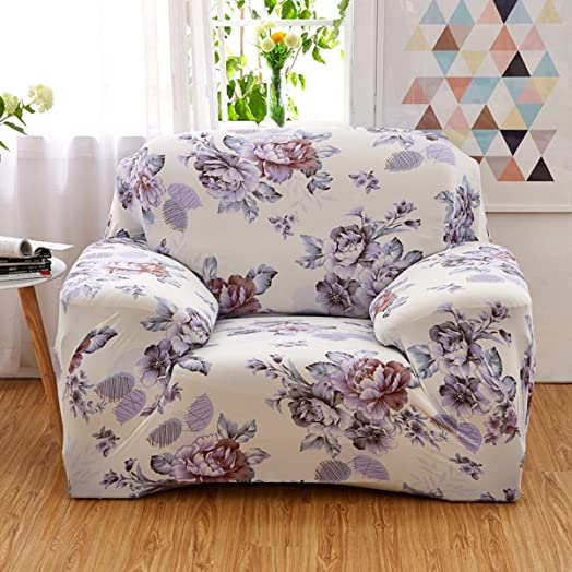 Stretch Elastic Fabric Sofa Cover Ezeso Single Seater Slipcover