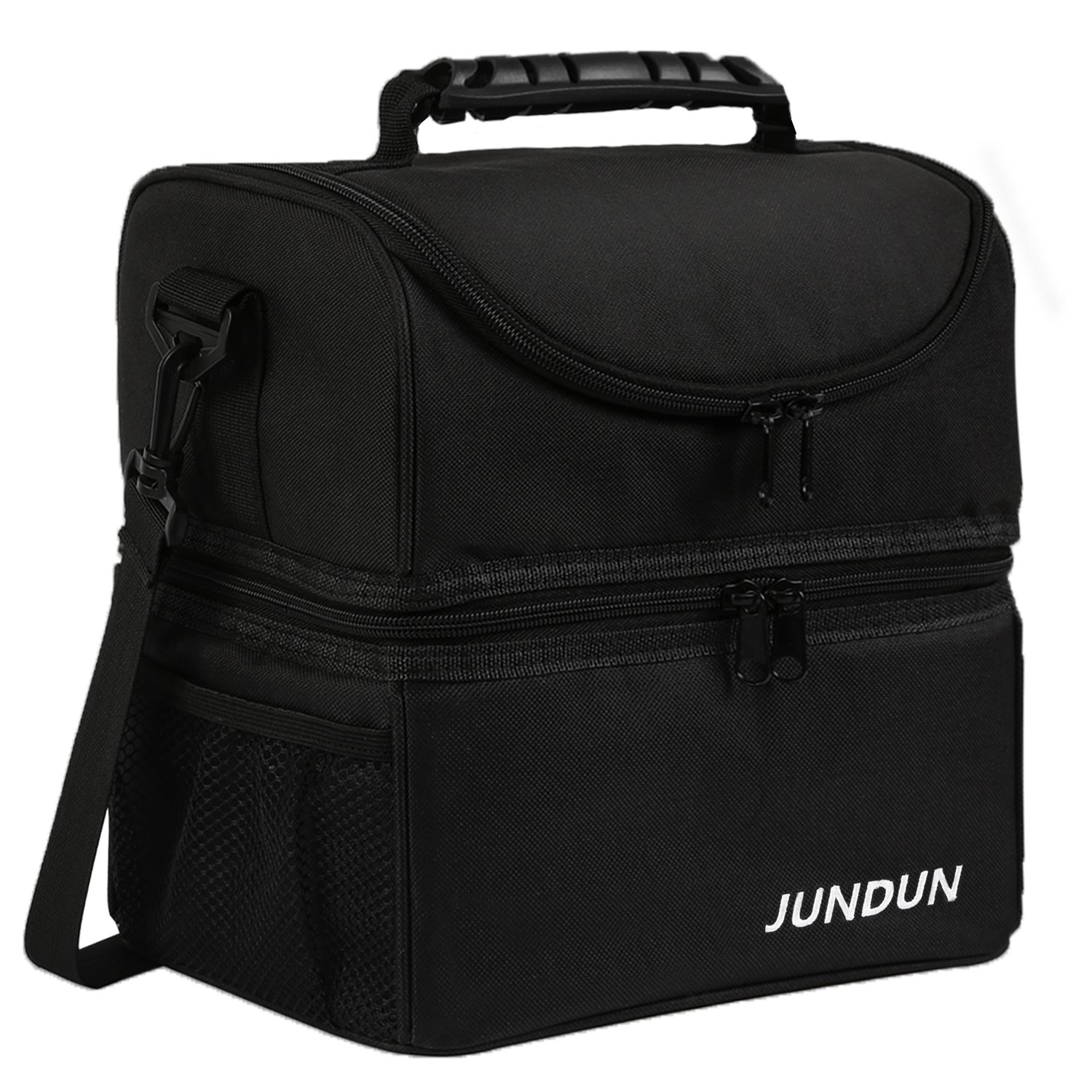 JUNDUN Lunch Bag Double Insulated Cooler Tote Lunch Box with Shoulder Strap for Men &Women (Purple)