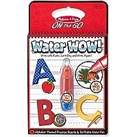 Melissa & Doug On the Go Water Wow! Alfabeto (Bloc reutilizable de actividades revela con agua, pluma gruesa de agua)