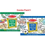 Melissa & Doug Jumbo Coloring Pad - Blue (Blue and Animals)