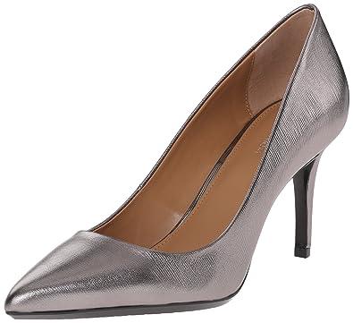 59ee8a784a Calvin Klein Women's Gayle Pump, Anthracite Metallic Birch Leather - 5 B(M)