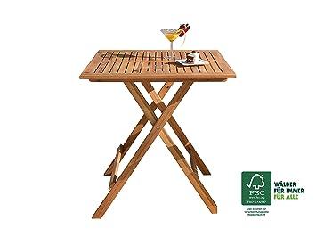 SAM® Table de jardin en bois d\'acacia, table de balcon avec une ...
