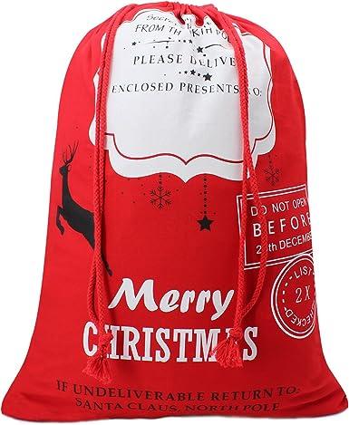 Hoople Sacos De Tela Para Colocar Regalos De Navidad Para Niños Bolsas De Arpillera Con Cordón De Ajuste Para Regalos Clothing