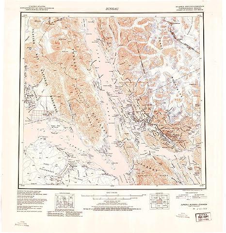 Amazon.com : YellowMaps Juneau AK topo map, 1:250000 Scale ...