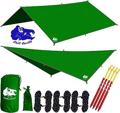 Chill Gorilla 10x10 Hammock Rain Fly Camping Tarp.