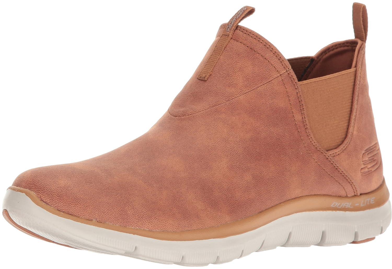 Skechers Damen Flex Appeal Sweet Spot Sneaker, Pink Purple  5 B(M) US|Braun(Kastanie)