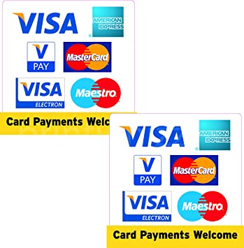 Amazon.com: 2x Visa American Express Vpay Mastercard ...
