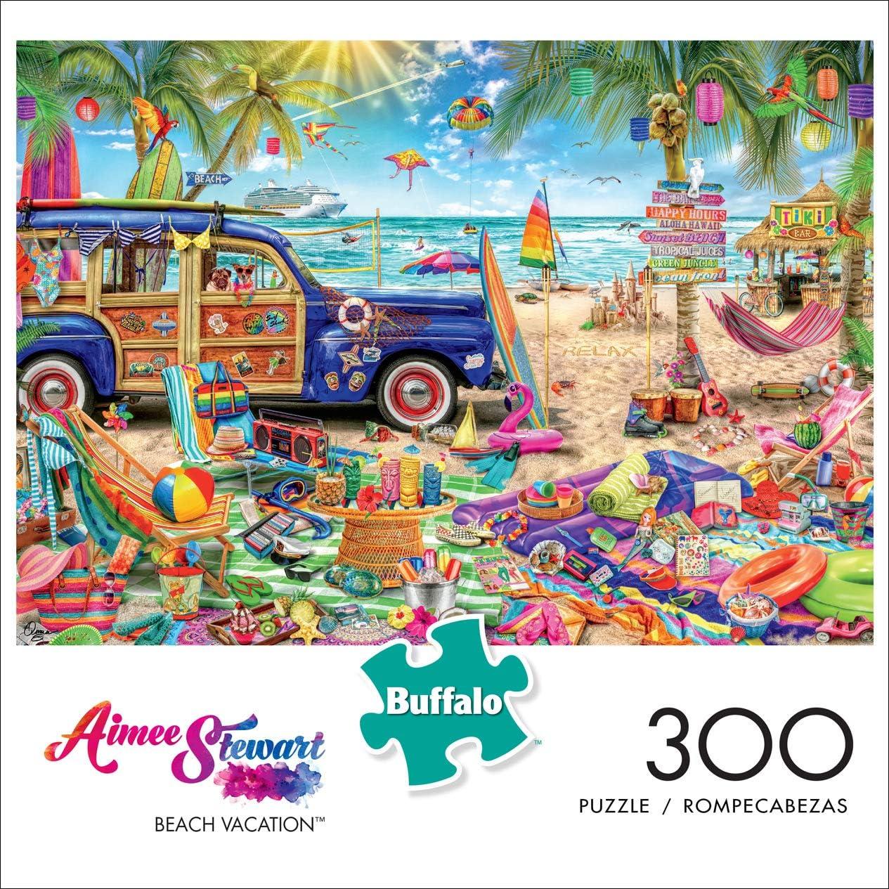 Beach Vacation 300 Large Piece Jigsaw Puzzle Buffalo Games