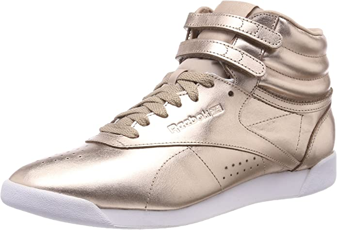 Reebok Freestyle Hi Sneakers High Top Damen Schuhe Gold