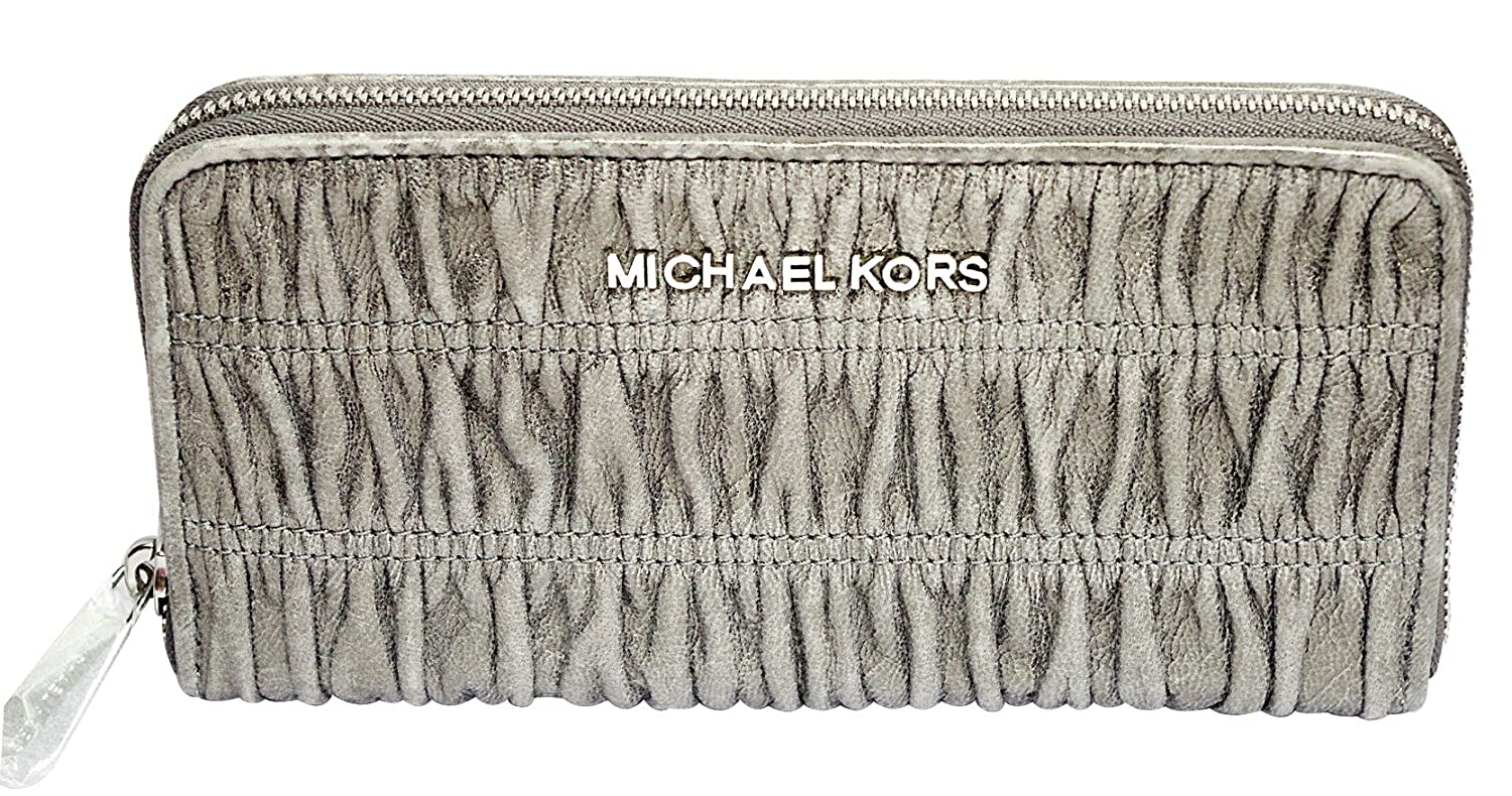 e290048664a9 70%OFF Michael Kors webster nickel continental leather wallet 32F2SWEZ3M-045  NEW